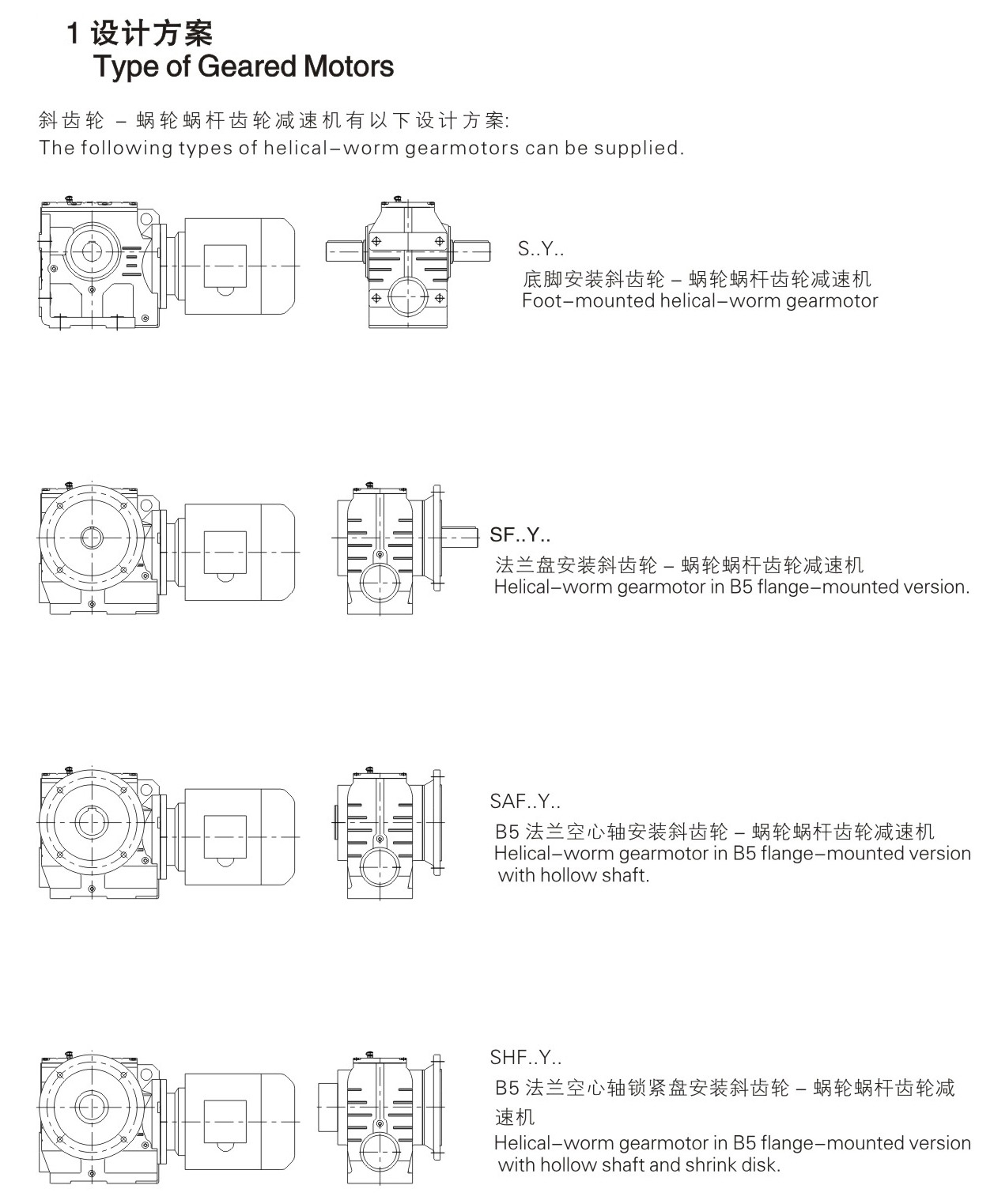 Starshine Drive S Series Helical - Worm Geared Motor-Guangdong